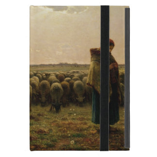 Shepherdess with her Flock, 1863 Cover For iPad Mini