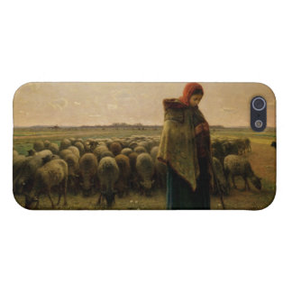 Shepherdess with her Flock, 1863 Cover For iPhone SE/5/5s