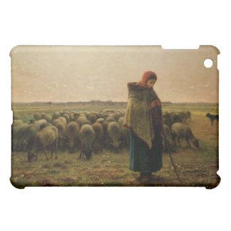 Shepherdess with her Flock, 1863 iPad Mini Covers