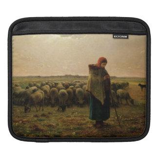 Shepherdess with her Flock, 1863 iPad Sleeve