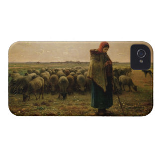 Shepherdess with her Flock, 1863 iPhone 4 Cover