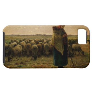 Shepherdess with her Flock, 1863 iPhone SE/5/5s Case