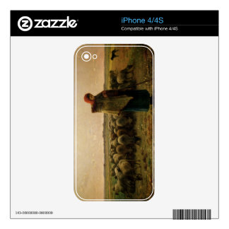 Shepherdess with her Flock, 1863 Skin For The iPhone 4S