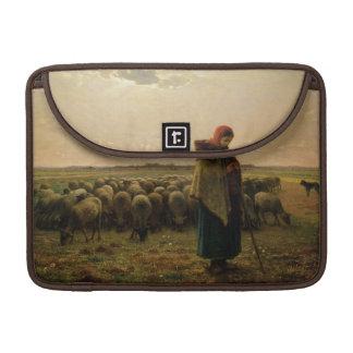 Shepherdess with her Flock, 1863 Sleeve For MacBook Pro