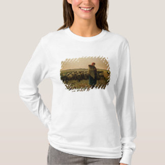 Shepherdess with her Flock, 1863 T-Shirt