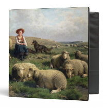 Shepherdess with Sheep in a Landscape Binder