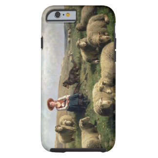 Shepherdess with Sheep in a Landscape Tough iPhone 6 Case