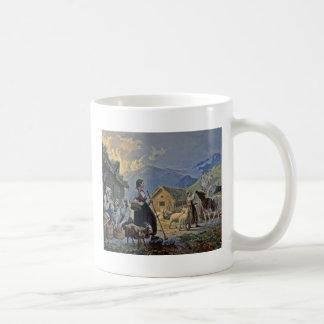 Shepherdesses Hut on the Mountain Classic White Coffee Mug