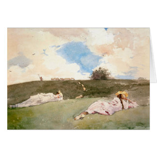 Shepherdesses Resting - Art Card (with message)