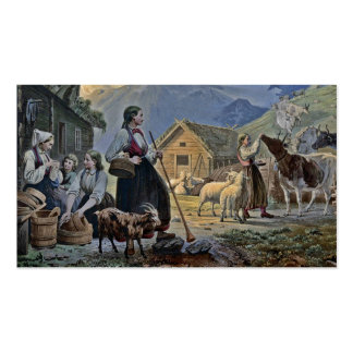 Shepherdess's Hut on the Mountain Double-Sided Standard Business Cards (Pack Of 100)