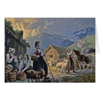 Shepherdess's Hut on the Mountain Greeting Card