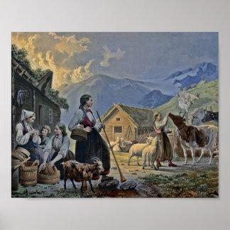 Shepherdess's Hut on the Mountain Poster