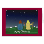 Shepherds Abiding in the Fields Greeting Card