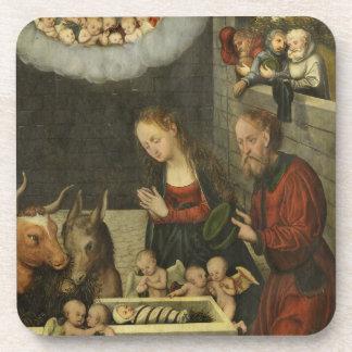 Shepherds Adoring Jesus by Cranach Coaster