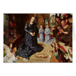 Shepherds and Angels Adore Him Greeting Cards