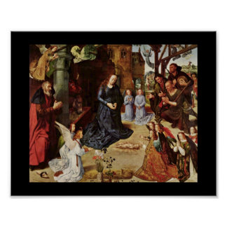 Shepherds and Angels Adore Him Poster