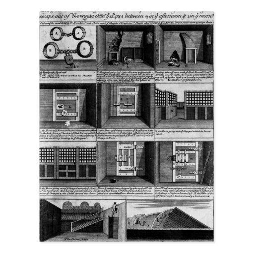 Shepherd's escape form Newgate Prison Post Cards