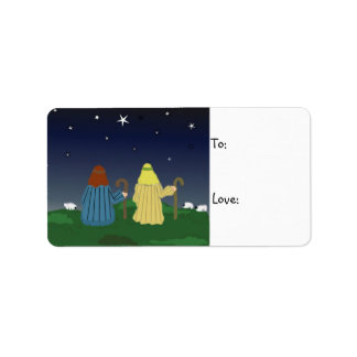 Shepherds in the Field Gift Tag Label