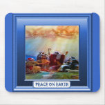 Shepherds visited by angels mousepad