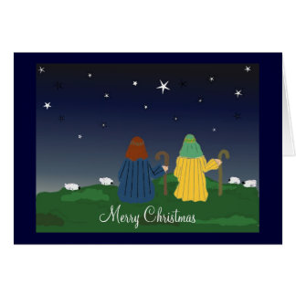 Shepherds Watching Over Their Flocks Card