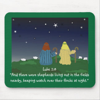 Shepherds Watching Their Flocks by Night Mouse Pad