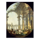 Shepherds with Animals in a Classical Landscape Postcards