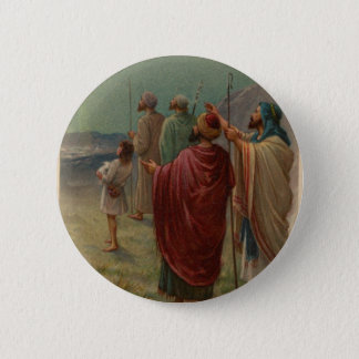 Shephrerds With Their Sheep Holiday Button