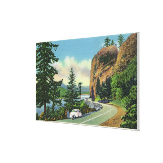 Shepperd's Dell View of Incomparable Gorge Stretched Canvas Print