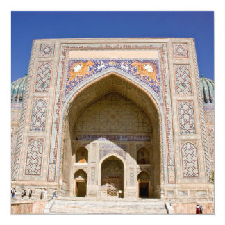 Sher-Dor Madrasah: Facade 5.25x5.25 Square Paper Invitation Card