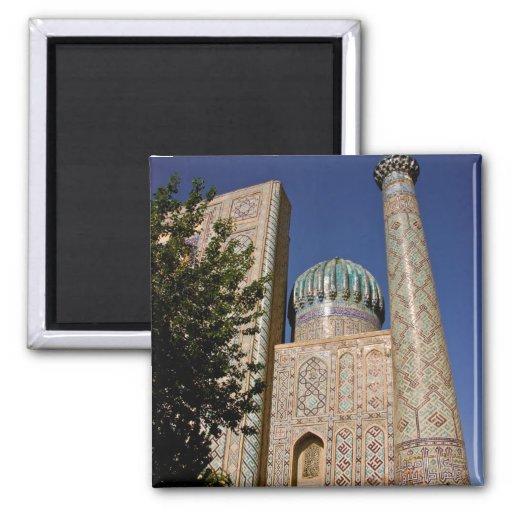 Sher-Dor Madrasah: Minaret 2 Inch Square Magnet