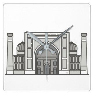 Sher Dor Madrasah World landmarks Square Wall Clock