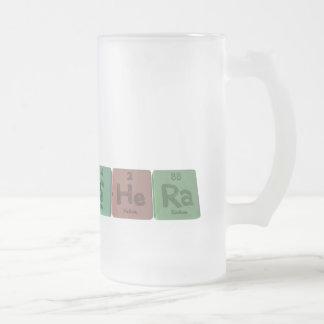 Shera  as Sulfur Helium Radium Frosted Glass Beer Mug