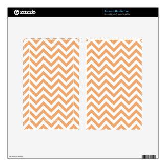 Sherbert anaranjado Chevron Kindle Fire Skins