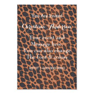 Sherbert Black Cheetah Card