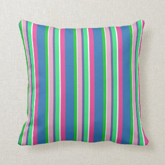 Sherbert Colors on a Striped Pillow