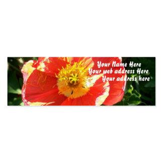 Sherbert Garden Poppy Business Card Templates