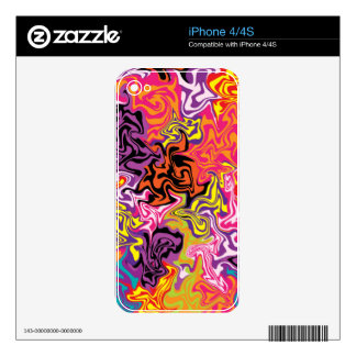 Sherbet Decal For iPhone 4