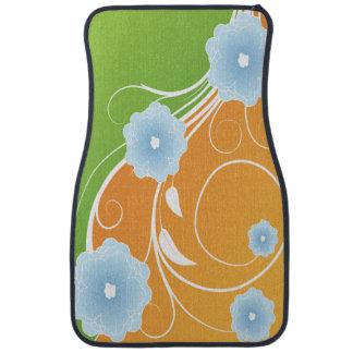 Sherbet Floral Scroll Floor Mat