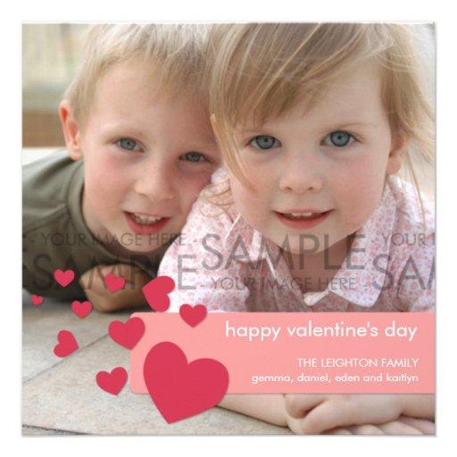 Sherbet Hearts Confetti :: Photo Greeting Announcement