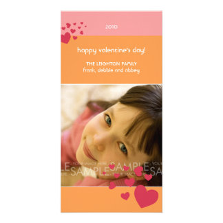 Sherbet Hearts :: Valentine's Day Photocard Photo Card Template