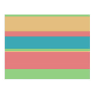 Sherbet Ice Cream Stripes Postcard