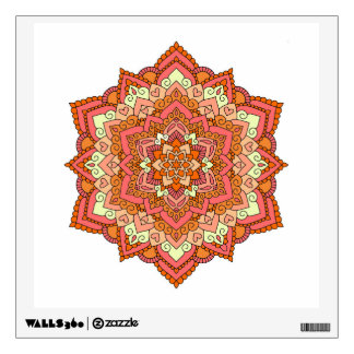 Sherbet Mandala Wall Decal