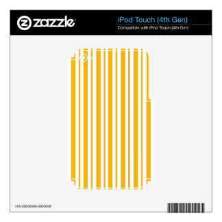 Sherbet Orange Pinstripe iPod Touch 4G Skins