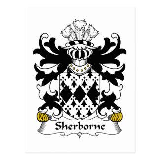 Sherborne Family Crest Postcard