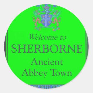 sherborne green classic round sticker