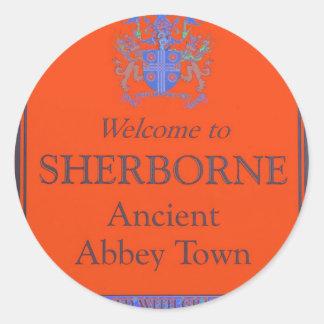 sherborne orange classic round sticker