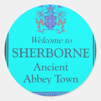 sherborne turtoise classic round sticker
