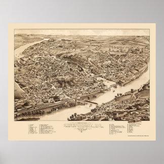 Sherbrooke, Québec, Canada Panoramic Map - 1881 Poster