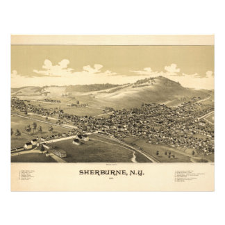 Sherburne Nueva York (1887) Membrete A Diseño