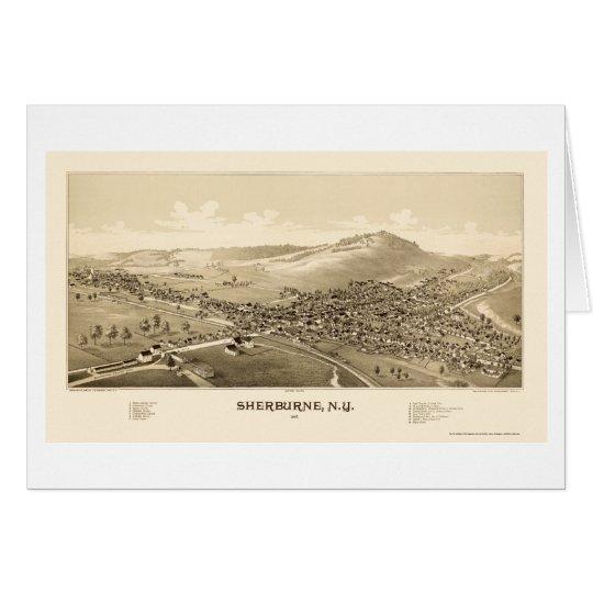 Sherburne, NY Panoramic Map - 1887 Card